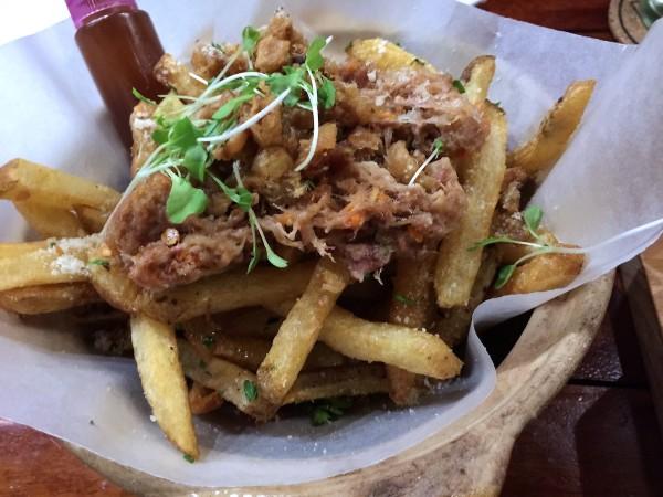 Gluten free fried duck you – duck fat fries, duck skin chicaron ...